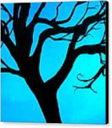 Blue Winter Canvas Print by Debi Starr