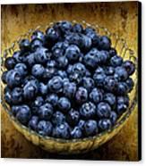 Blueberry Elegance Canvas Print by Andee Design