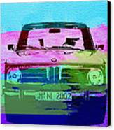 Bmw 2002 Front Watercolor 1 Canvas Print by Naxart Studio