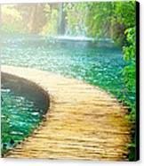Boardwalk Art Canvas Print by Boon Mee