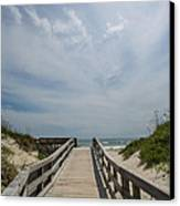 Boardwalk To The Beach Canvas Print