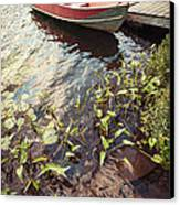 Boat At Dock  Canvas Print by Elena Elisseeva