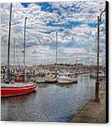 Boat - Baltimore Md - One Fine Day In Baltimore  Canvas Print