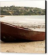 Boat On Shore 02 Canvas Print by Pixel Chimp