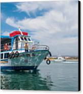 Boat To Tavira Island Canvas Print