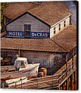 Boat - Tuckerton Seaport - Hotel Decrab  Canvas Print by Mike Savad