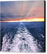 Boat Wake On Georgian Bay  Canvas Print
