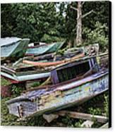 Boat Yard Canvas Print by Heather Applegate