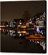 Boathouse Row All Lit Up Canvas Print by Bill Cannon