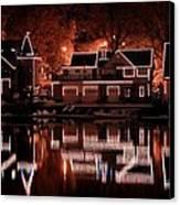 Boathouse Row Reflection Canvas Print