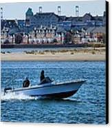 Boating In New York Harbor Canvas Print by Dan Sproul