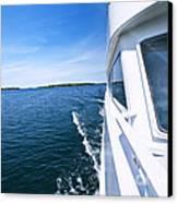 Boating On Lake Canvas Print