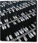 Boats At Nepean Sailing Club Canvas Print by Rob Huntley