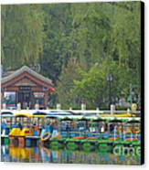 Boats In A Park, Beijing Canvas Print