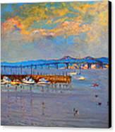 Boats In Piermont Harbor Ny Canvas Print