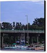 Boats Of Huron Ohio Canvas Print