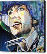 Bob Dylan Tangled Up In Blue Canvas Print by Joshua Morton