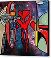 Boba Fett Icons Canvas Print by Gary Niles