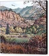 Bobcat Ridge Canvas Print by W  Scott Fenton