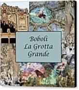 Boboli La Grotta Grande 1 Canvas Print