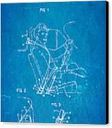 Bohlin Seatbelt Patent Art 1962 Blueprint Canvas Print by Ian Monk