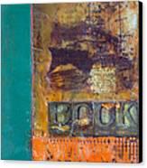 Book Cover Encaustic Canvas Print by Bellesouth Studio