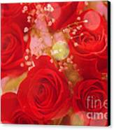 Bokeh Roses Canvas Print by Cheryl Young