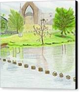 Bolton Abbey Canvas Print by Bav Patel