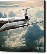 Bombardier-canadair Regional Jet Crj Canvas Print