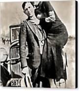 Bonnie And Clyde - Texas Canvas Print by Daniel Hagerman