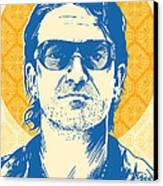 Bono Pop Art Canvas Print by Jim Zahniser