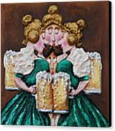 Boobies And Beer Canvas Print
