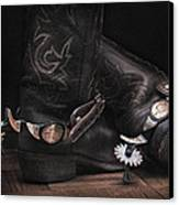 Boots And Spurs Canvas Print by Krasimir Tolev