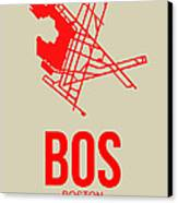 Bos Boston Airport Poster 1 Canvas Print