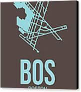 Bos Boston Airport Poster 2 Canvas Print