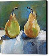 Bosc Pears Canvas Print by Becky Kim