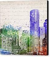 Boston City Skyline Canvas Print by Aged Pixel