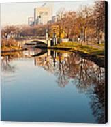 Boston Esplanade Canvas Print by Lee Costa