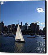 Boston Harbor Canvas Print by Olivier Le Queinec