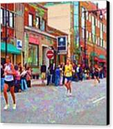 Boston Marathon Mile Twenty Two Canvas Print