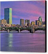 Boston Pastel Sunset Canvas Print by Joann Vitali