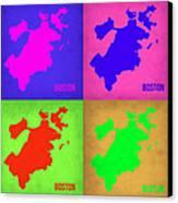 Boston Pop Art Map 1 Canvas Print