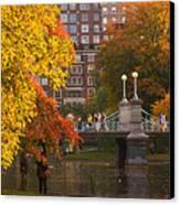Boston Public Garden Lagoon Bridge Canvas Print