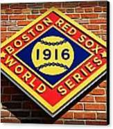 Boston Red Sox 1916 World Champions Canvas Print