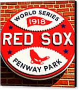 Boston Red Sox World Series Champions 1918 Canvas Print by Stephen Stookey