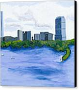Boston Skyline Canvas Print by Carmela Cattuti