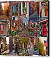 Boston Tourism Collage Canvas Print