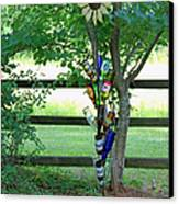 Bottle Tree Canvas Print by Suzanne Gaff