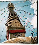 Boudhnath Stupa In Nepal Canvas Print by Raimond Klavins