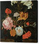 Bouquet In A Roemer Canvas Print by Jan Baptist Van Fornenburgh